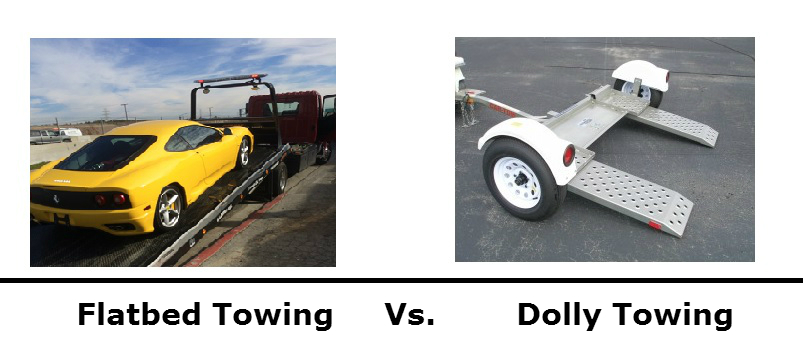 Flatbed Towing Vs. Dolly Towing